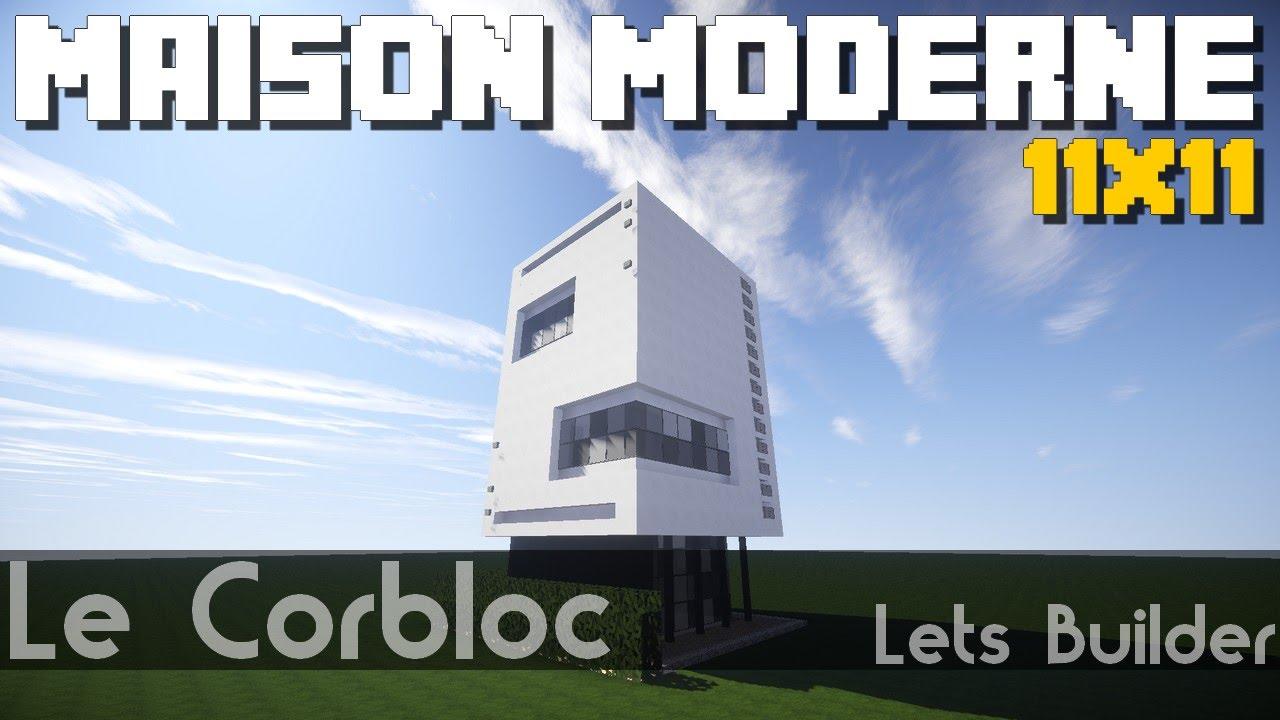 Minecraft - Maison Moderne 11x11 ( + Téléchargement ) - YouTube
