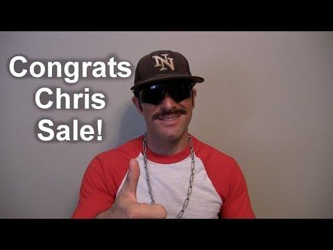 Domingo Congratulates Chris Sale