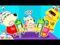 Wolfoo Saves Jenny from Crazy Robot? - Wolfoo Pretends to Be A Parent | Wolfoo Family Kids Cartoon