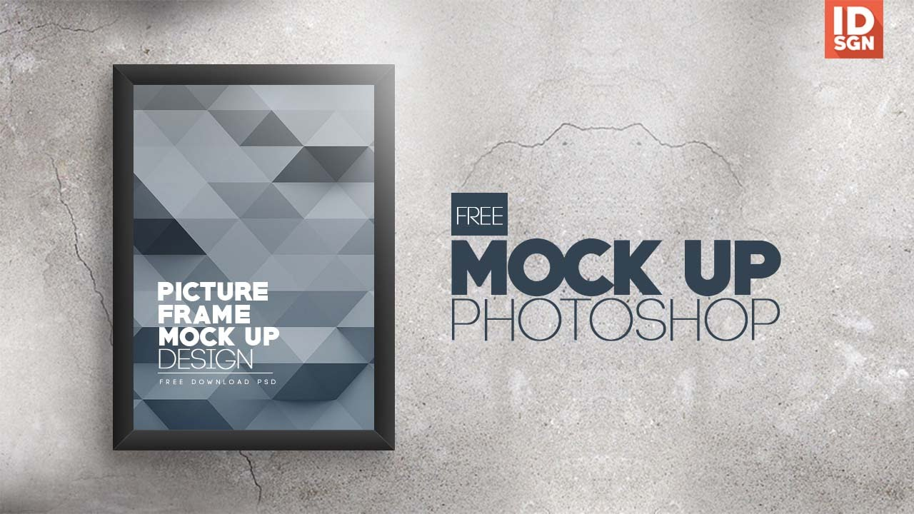 Free Download Picture Frame Mock Up PSD Template - YouTube