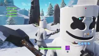 Marshmello Skin Unmasked *Face Reveal* Fortnite Battle Royale
