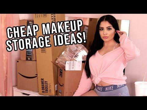 AMAZON MAKEUP STORAGE HAUL & UNBOXING | ep 2 Beauty Room Series