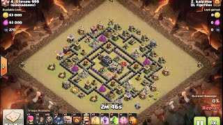 GoWiPe a 2 star strategy? Not really! 3 star clan war attack at Th9 - clash of clans
