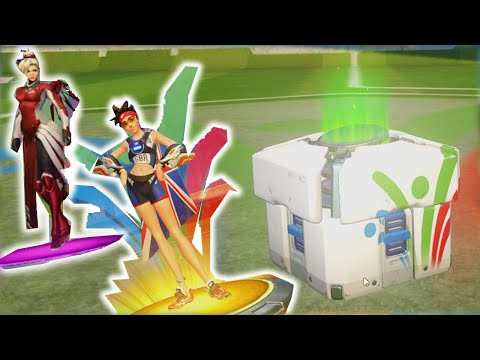BEST OVERWATCH OLYMPIC SUMMER GAMES LOOT BOX OPENING EVER!!!!!!