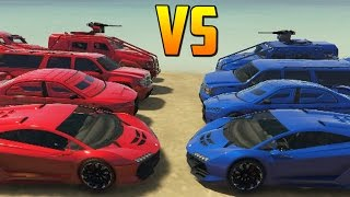 ROJOS vs AZULES - Gameplay GTA 5 Online Funny Moments (GTA V PC)