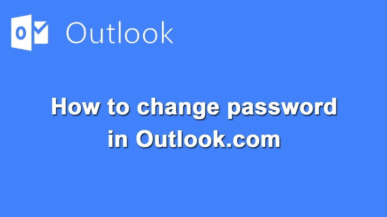 How to change password in Outlook mail with verify identify