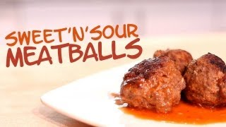 Sweet & Sour Meatballs - The Hungry Bachelor