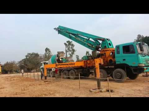Drilling and Cement Spraying  Machine in Cambodia.