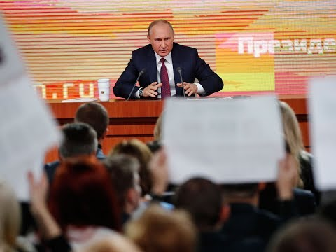 Tired looking Putin delivers marathon news conference as he enters campaign mode
