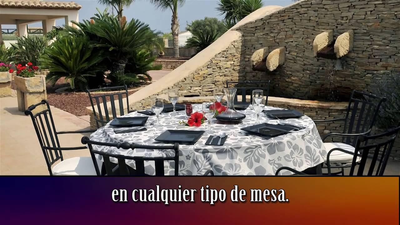 Mantel para mesas redondas de gran tama o hostelcash youtube - Mantel para mesa exterior ...
