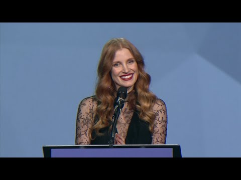 Chastain holds back the tears