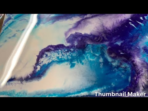 How to DIY resin epoxy art tutorial painting