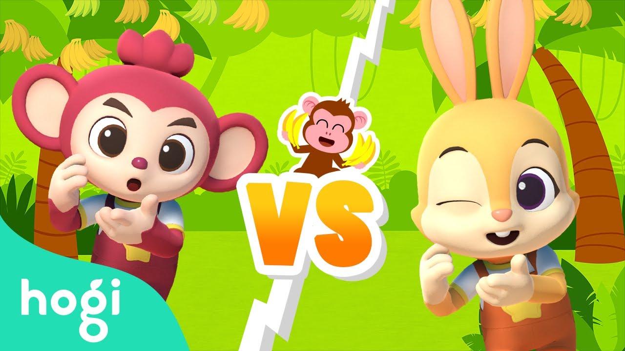 Monkey Bananas | Dance Battle Game with Jeni & Poki  | Choreography for Kids | Dance with Hogi