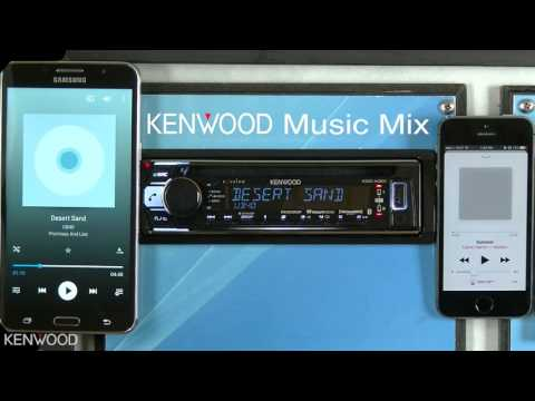 KENWOOD Music Mix for 2017 Bluetooth Audio Receivers (KDC-X301)