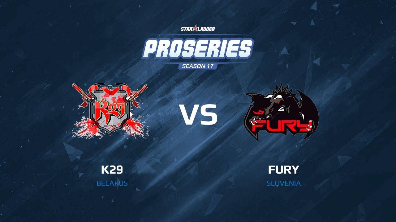 k29 vs Fury, map 1 mirage, SLTV Pro Series Season 17