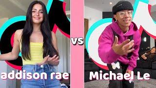Michael Le Vs Addison Rae TikTok Dances Compilation (June 2020)