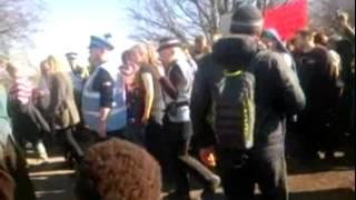 GMP Unnaceptable behaviour at Barton Moss 11 March 2014