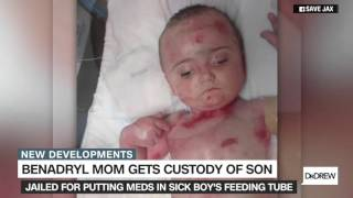 Mom jailed for putting meds in son's feeding tube awarded custody