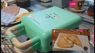 죠르디 샌드위치 메이커로 샌드위치 만들기!