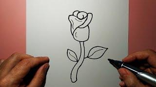 Как нарисовать РОЗУ легко и просто / How to draw a rose