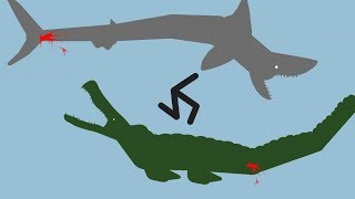 Sticknodes Arena 2 - Saltwater Crocodile vs Great White Shark