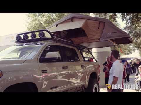 Custom Adventure Toyota Tundra with Roof Rack Truck Tent SEMA 2016