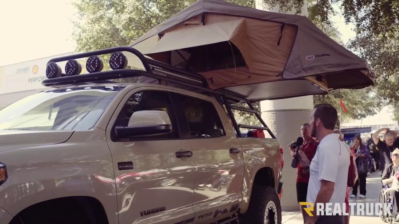 Custom Adventure Toyota Tundra with Roof Rack Truck Tent ...