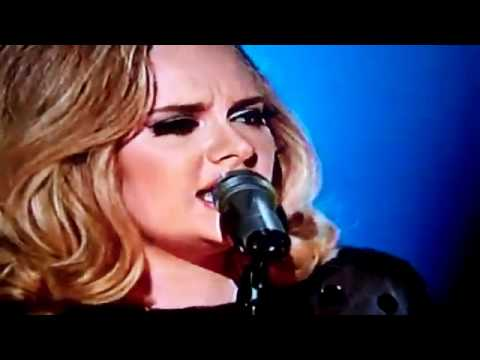 Adele Performing  Rolling in the Deep  @ the 2012 Grammy Awards