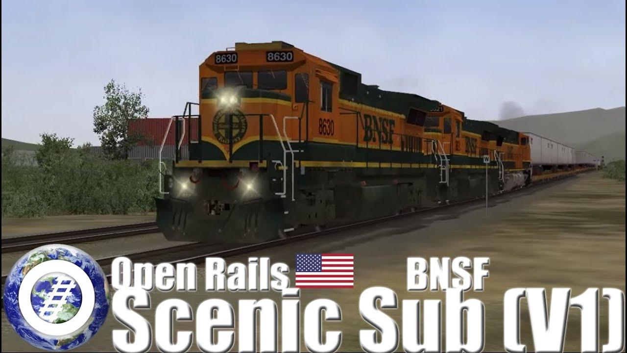 Open Rails (MSTS successor) BNSF Scenic Subdivision