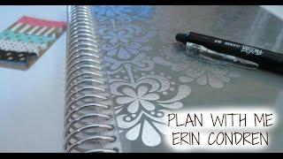 PLAN WITH ME-- ERIN CONDREN LIFE PLANNER