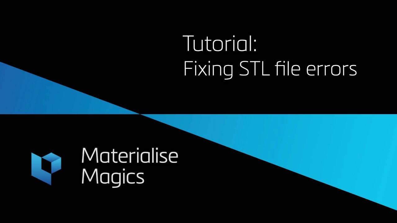 Tutorial: Automatic file repair in Materialise Magics