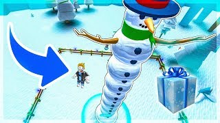 MY SNOWMAN IS A GIANT! Roblox Snowman Simulator