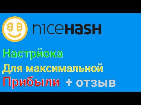 NiceHash: настройка максимальной прибыли и вывод денег на Новой Платформе