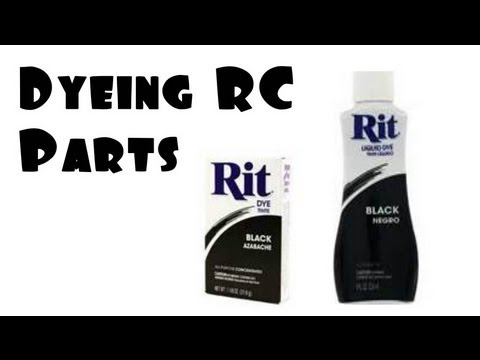 Rc How To Dye Rc Parts Using Rit Dye Youtube