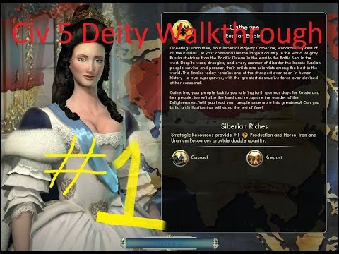 Civ V Deity walkthrough #1   Social policies and stealing workers