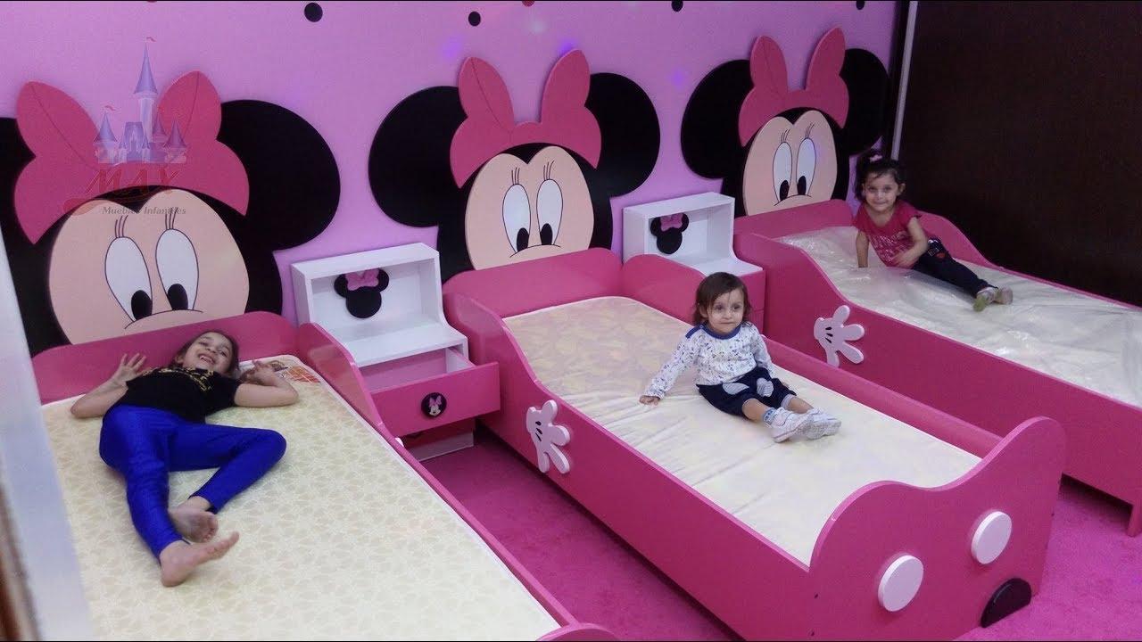 Cama de minnie mouse max muebles infantiles youtube for Imagenes de camas infantiles
