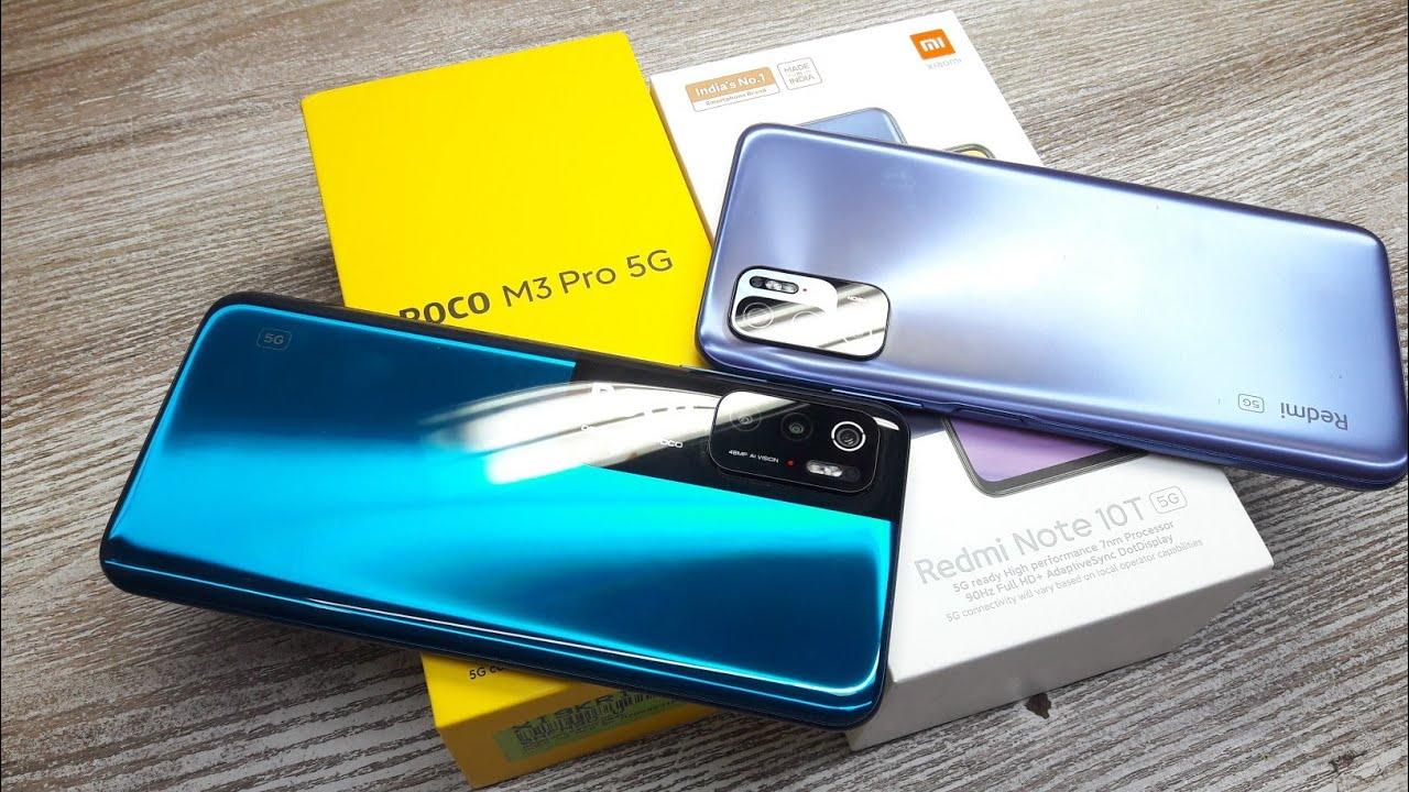 Redmi Note 10T vs Poco M3 Pro - Which Should You Buy ?