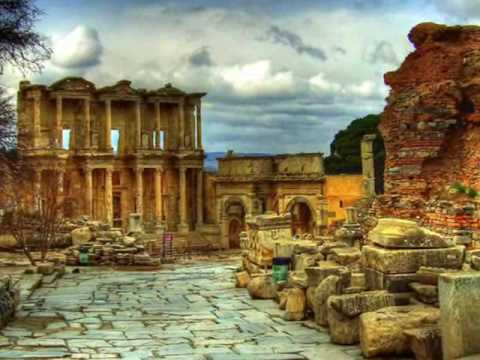 The Roman Library of Celsus at Ephesus, Turkey Celsus Library in Ephesus city Ruins - Ephesus Breeze