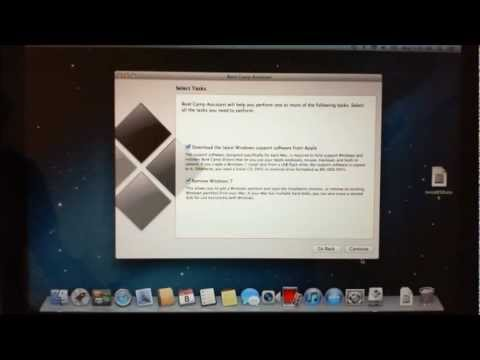 How to install Windows Vista on an Apple Mac running bootcamp.