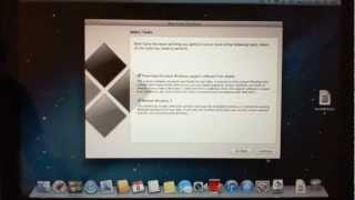 How to install Windows Vista on an Apple Mac running bootcamp.
