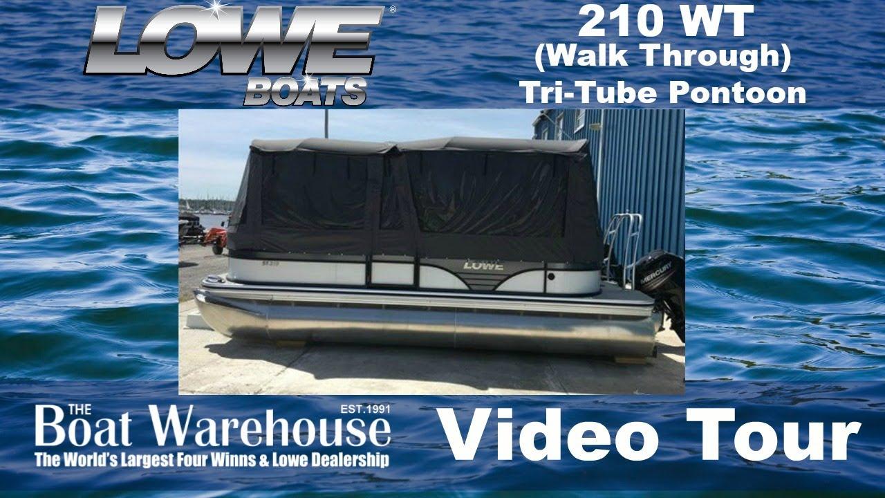 Lowe 210 Wt Pontoon Walk Through Floor Plan At The Boat Warehouse In Kingston Ontario Canada