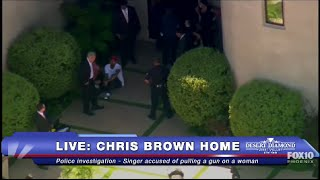 FULL COVERAGE: Police ARREST Chris Brown Allegedly Threatened Woman With Gun by : FOX 10 Phoenix