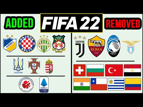*NEW* FIFA 22 NEWS | All Added & Removed Licenses - Leagues, Clubs & National Teams