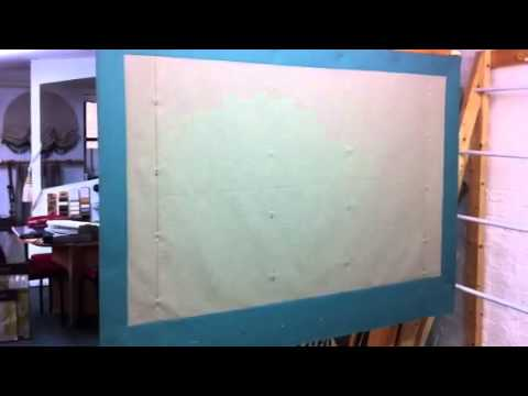 How to stab stitch a roman blind. Part 1