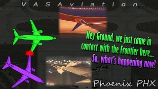 [REAL ATC] Southwest & Frontier COLLIDE at Phoenix (Wingtips clipped)