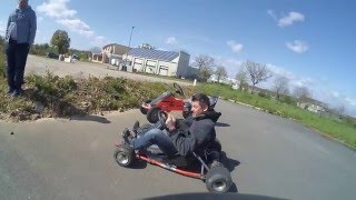 marade avec karting électrique avec un alternateur en moteur