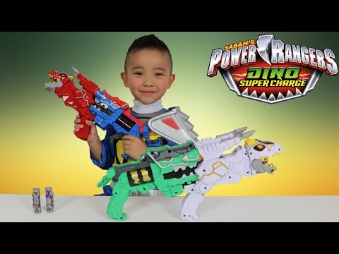 Power Rangers Dino Super Charge Limited Edition T-Rex Morpher Toys Unboxing Fun Ckn Toys