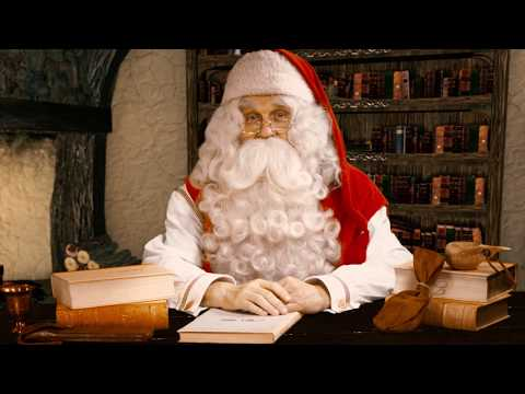 Message of Santa Claus to children from Lapland Finland: Rovaniemi Father Christmas for kids