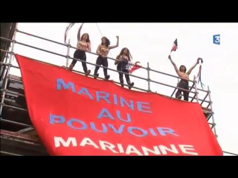 Présidentielle : les Femen mènent une nouvelle action à Hénin-Beaumont