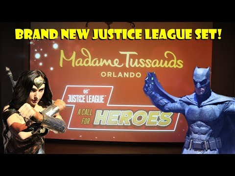 Madame Tussauds Orlando Brand New Justice League Heroes INTERACTIVE Display Showcase & Celeb Tour!
